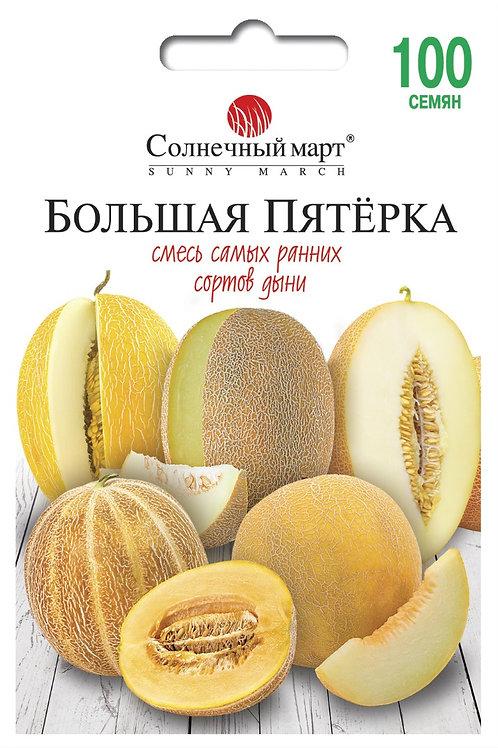 Дыня Большая пятерка (смесь) /100шт/ Солнечный март.