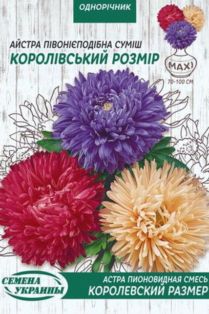 Астра пионовидная Королевский размер /3г/ Семена Украины.