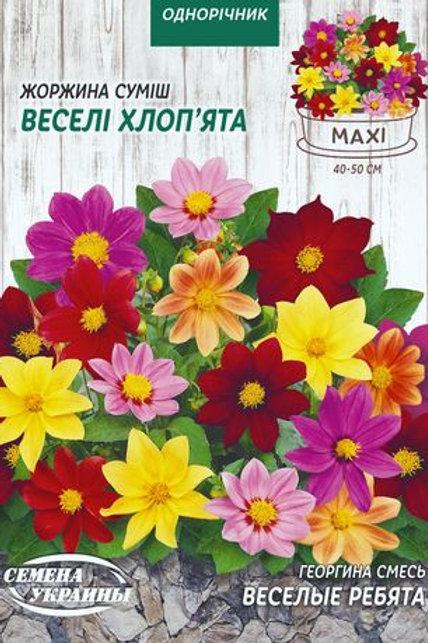 Георгина Веселые ребята смесь /3г/Семена Украины