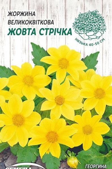 Георгина Желтая лента /0,2г/Семена Украины.