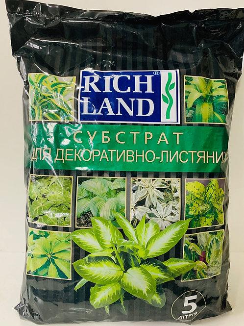 RICH LAND для Декоративно-лиственных растений /5л/