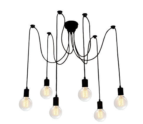 Vivio Charlotte 6-Light Spider Adjustable  - MB