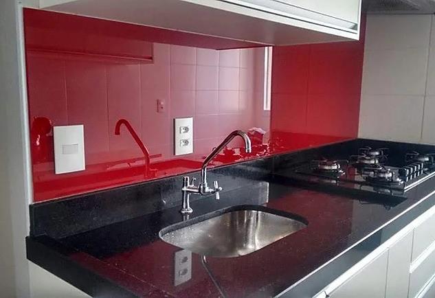 Litoral GLass - Vidro Colorido - Vermelh