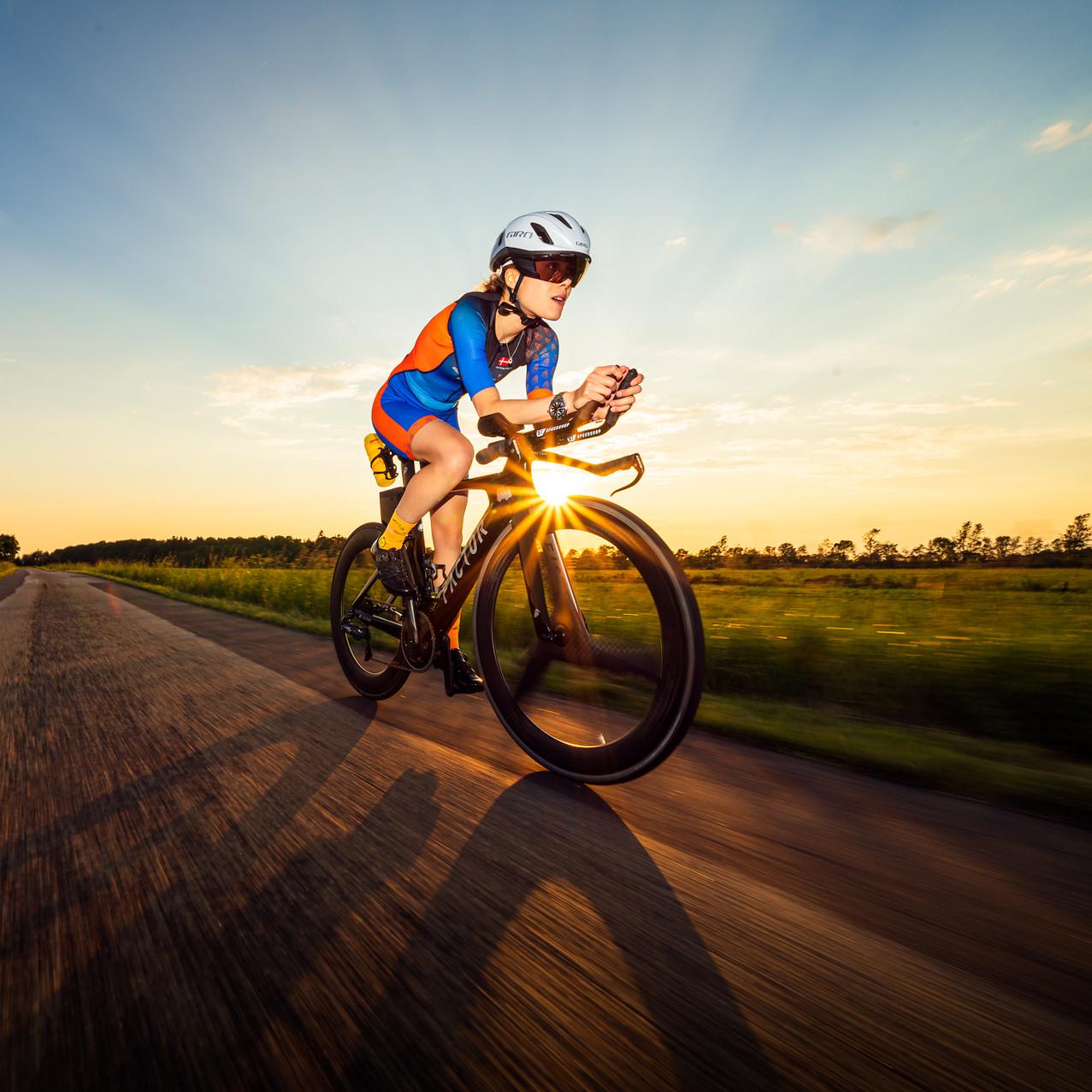 Triatlet Katrine Brock