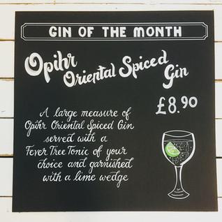 Gin Cocktail Chalkboard