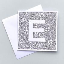 Letter E card