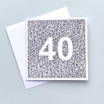 40 birthday card
