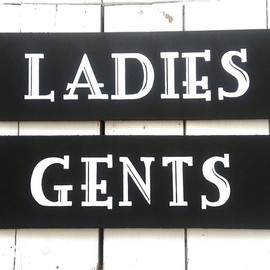 Ladies and Gents Chalkboard Signs