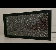 Personalised names with my Space design.
