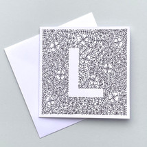 Letter L card