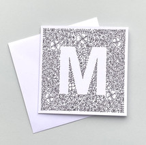 Letter M card