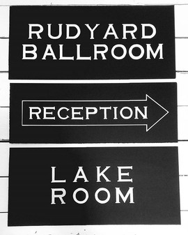 Room Signs for the Hotel Rudyard.