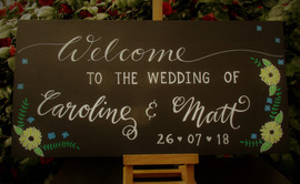Welcome Wedding Board 30 x 60 cm with artwork
