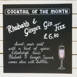 Cocktail Chalkboard