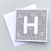 Letter H card
