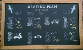 Chalkboard Seating Plan