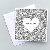 Mrs & Mrs card
