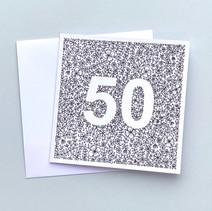 50 birthday card
