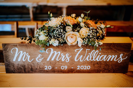 Wooden Table Sign