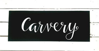 Carvery Chalkboard Sign