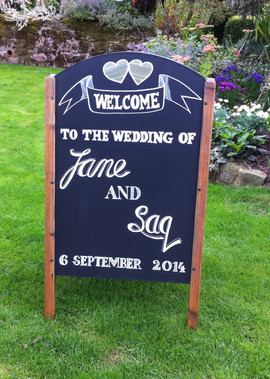Welcome Wedding board