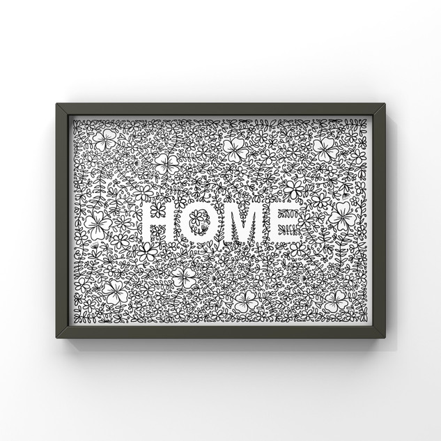 home floral and laurel