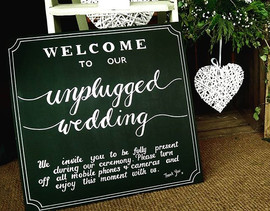 Unplugged Chalkboard Wedding Board