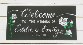 Welcome wedding board 30 x 60cm