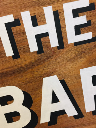 The Bar Wooden Sign