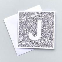 Letter J card