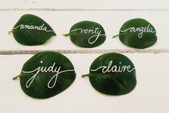 Place card leaves
