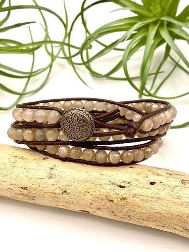 Moonstone Wrap Bracelet