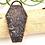 Thumbnail: Druzy Agate Copper Coffin Pendant