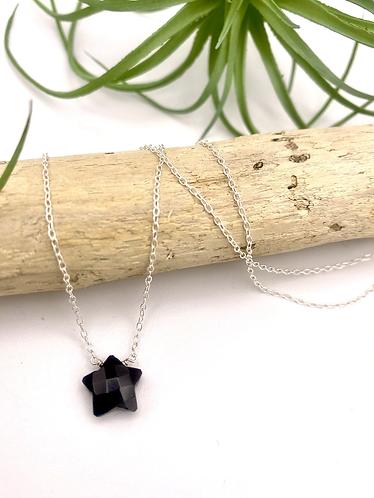 Onyx Star Necklace