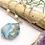 Thumbnail: Cherry Blossom Agate & Aquamarine Pendant Necklace
