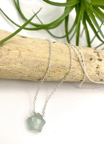 Aquamarine Star Necklace