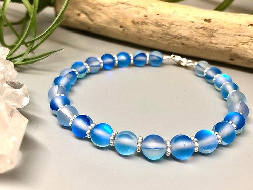 "Blue ""Mermaid"" Aura Quartz Bracelet"