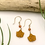 Thumbnail: Orange Leaf Peeper Earrings