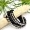 Thumbnail: Hematite & Onyx Wrap Bracelet