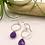 Thumbnail: Amethyst Briolette Earrings