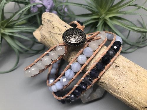 Ombré Gemstone Wrap Bracelet