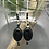 Thumbnail: Onyx & Spinel Oval Earrings