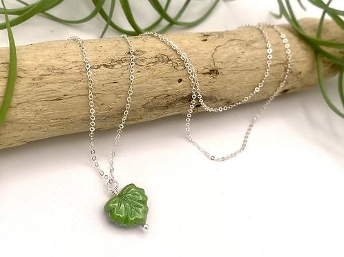 Olive Leaf Peeper Necklace