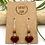 Thumbnail: Burgundy Leaf Peeper Earrings