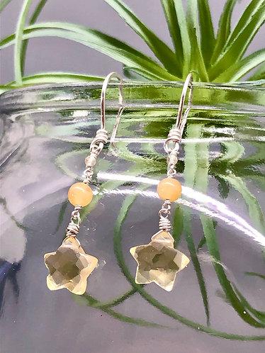 Citrine Star Earrings