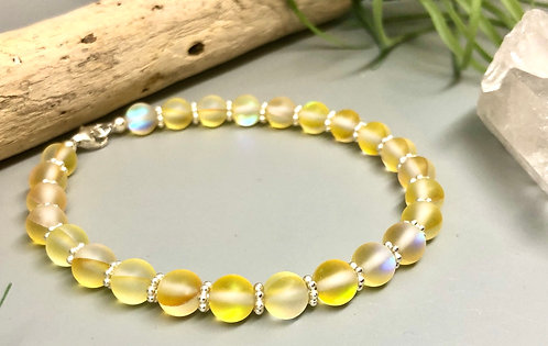 "Yellow ""Mermaid"" Aura Quartz Bracelet"