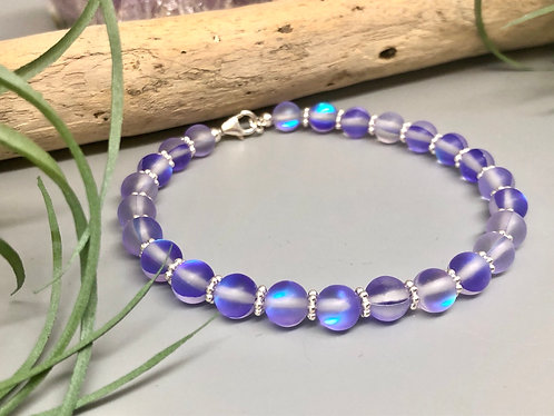 "Purple ""Mermaid"" Aura Quartz Bracelet"