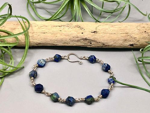 Star Cut Lapis Lazuli Bracelet