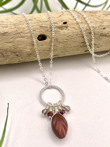 Silver Harvest Leaf Necklace