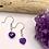 Thumbnail: Amethyst Heart Earrings